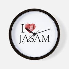 I Heart Jasam Wall Clock