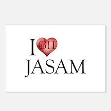 I Heart Jasam Postcards (Package of 8)