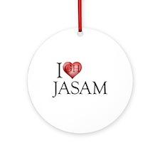 I Heart Jasam Round Ornament