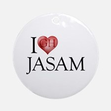 I Heart Jasam Round Ornament