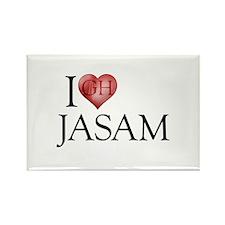 I Heart Jasam Rectangle Magnet