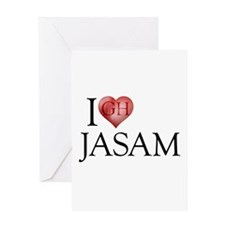I Heart Jasam Greeting Card