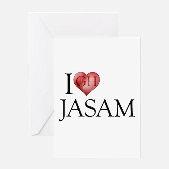 I Heart Jasam Greeting Card