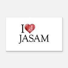 I Heart Jasam Rectangle Car Magnet