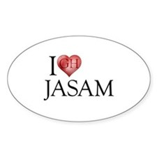 I Heart Jasam Oval Decal