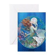 Clive Pearl Mermaid Greeting Cards