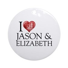 I Heart Jason & Elizabeth Round Ornament