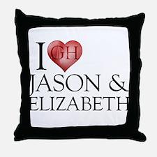 I Heart Jason & Elizabeth Throw Pillow