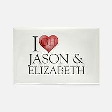 I Heart Jason & Elizabeth Rectangle Magnet