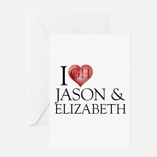 I Heart Jason & Elizabeth Greeting Card