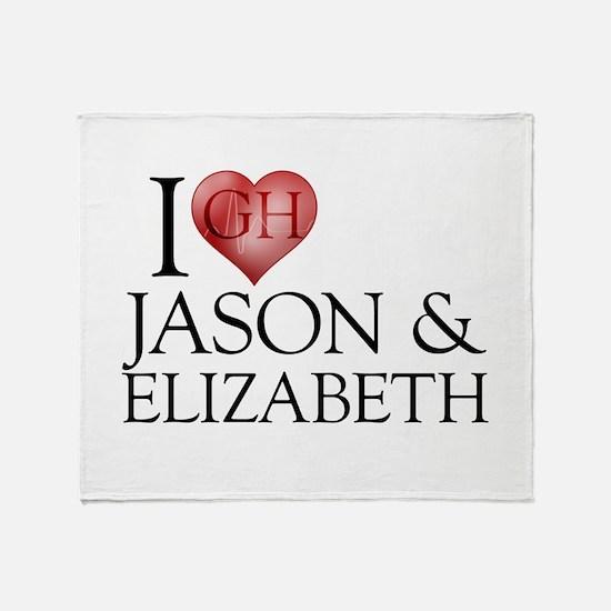 I Heart Jason & Elizabeth Stadium Blanket