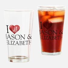 I Heart Jason & Elizabeth Drinking Glass