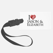 I Heart Jason & Elizabeth Luggage Tag