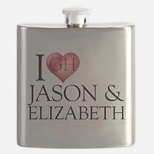 I Heart Jason & Elizabeth Flask