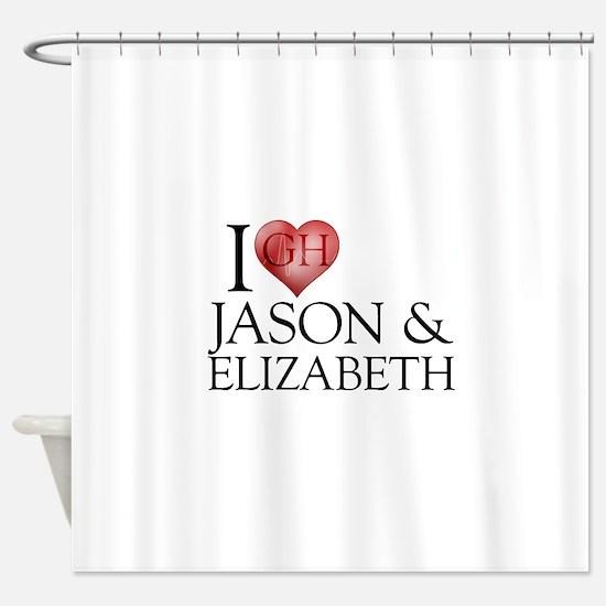 I Heart Jason & Elizabeth Shower Curtain