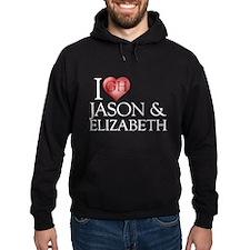 I Heart Jason & Elizabeth Dark Hoodie