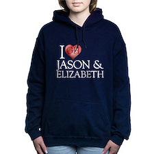I Heart Jason & Elizabeth Woman's Hooded Sweat