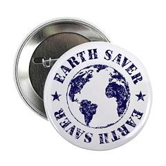 Save Earth Environmental Slogan Button