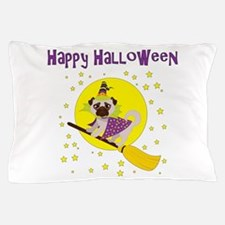 Halloween Witchy Pug Pillow Case