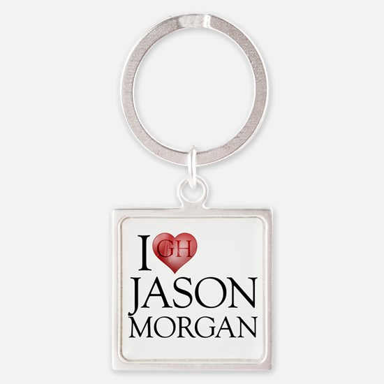 I Heart Jason Morgan Square Keychain