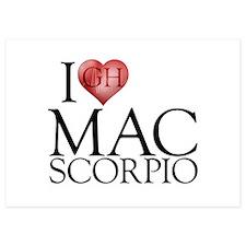 I Heart Mac Scorpio Invitations