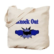 Knock Out Leukodystrophies blue.png Tote Bag