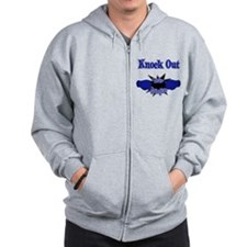 Knock Out Leukodystrophies blue.png Zip Hoody