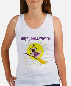 Halloween Witchy Pug Women's Tank Top