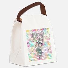 Unique Elephant Canvas Lunch Bag