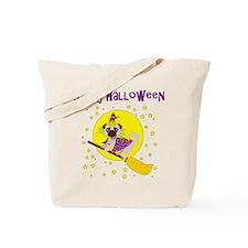 Halloween Witchy Pug Tote Bag