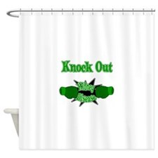 Knock Out Kidney Disease green.png Shower Curtain