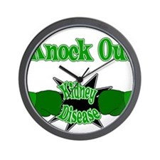 Knock Out Kidney Disease green.png Wall Clock