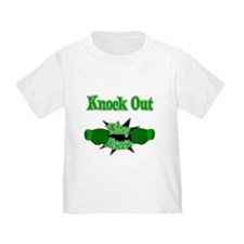 Knock Out Kidney Disease green.png T-Shirt