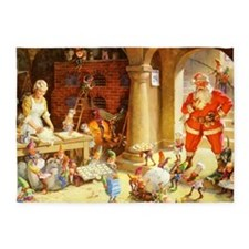 Mrs. Claus & the Elves Bake Christm 5'x7'Area Rug