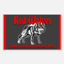 Red Wolves Sticker (Rectangle)