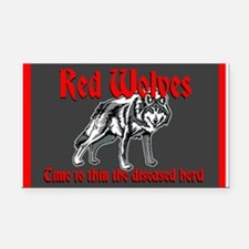 Red Wolves Rectangle Car Magnet