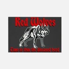 Red Wolves Rectangle Magnet