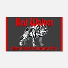 Red Wolves Wall Decal