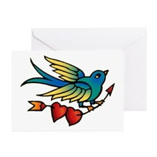 Bird Tattoo Art Greeting Cards (Pk of 10)