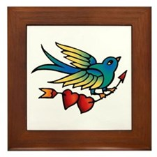 Bird Tattoo Art Framed Tile