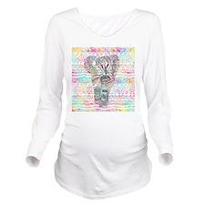Unique Elephant Long Sleeve Maternity T-Shirt
