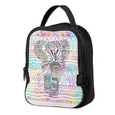 Cute Elephant Neoprene Lunch Bag