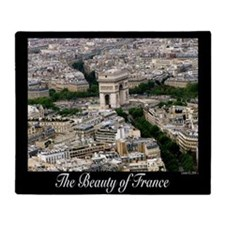 The Beauty of France Throw Blanket