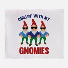Chillin' With My Gnomies Stadium Blanket