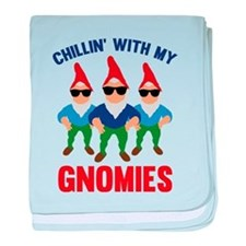 Chillin' With My Gnomies baby blanket