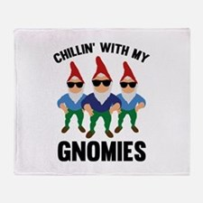 Chillin' With My Gnomies Stadium Blanket