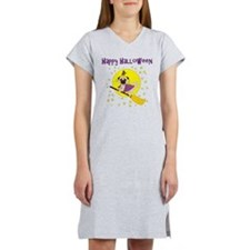 Halloween Witchy Pug Women's Nightshirt