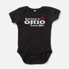 Funny Someone in ohio loves me Baby Bodysuit