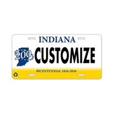 Indiana Custom Aluminum License Plate