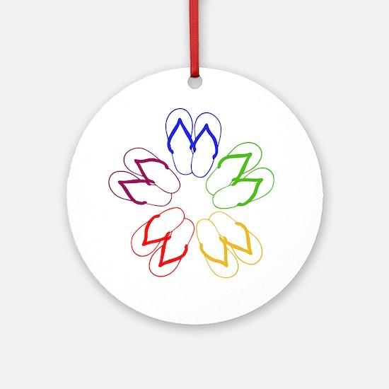 FLIP-FLOP FANATIC Ornament (Round)